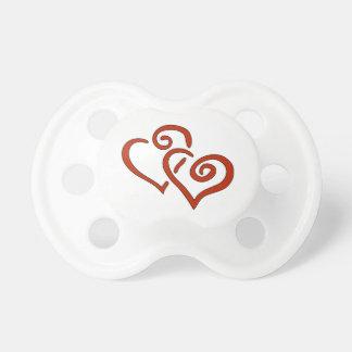 Valentine-Herz-Schnuller Schnuller