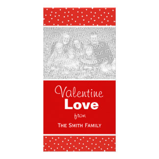 Valentine-Herz-vertikale Foto-Karten Bilderkarten