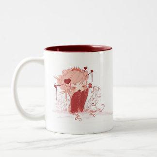 Valentine Kokeshi Zweifarbige Tasse