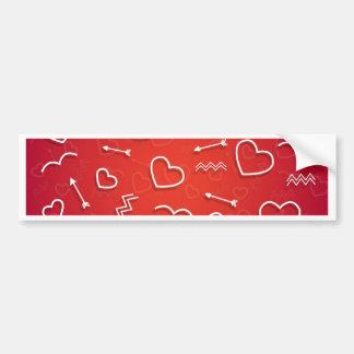 Valentine-Liebe-Herz-Rosa-Rosen-niedliches Rot Autoaufkleber