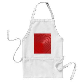 Valentine-Liebe-Herz-Rosa-Rosen-niedliches Rot Schürze
