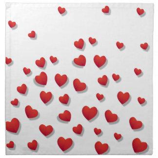 Valentine-Liebe-Herz-Rosa-Rosen-niedliches Rot Serviette