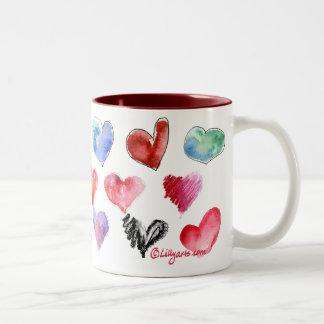 Valentine-Liebe-Herz-Tasse 3 von 4 Zweifarbige Tasse