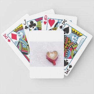 Valentine-Liebe-Kaffee-Herz-Tasse des Valentines Bicycle Spielkarten