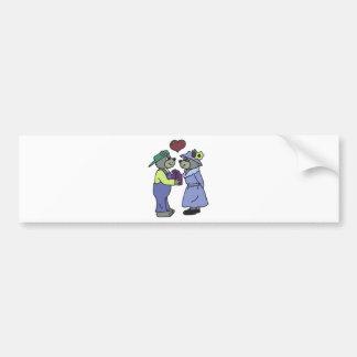 Valentine-Liebe-Paare Autoaufkleber