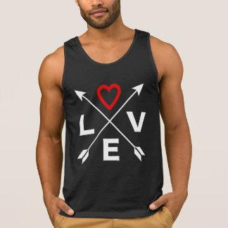 Valentine-Liebe-Pfeil-Zeichen, schwarzer Tank Top