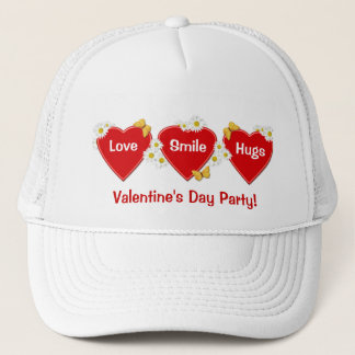 Valentine-Party-Gänseblümchen-Schmetterlings-Hut Truckerkappe