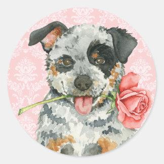 Valentine-Rose ACD Runder Aufkleber