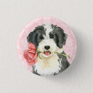 Valentine-Rose Beardie Runder Button 3,2 Cm