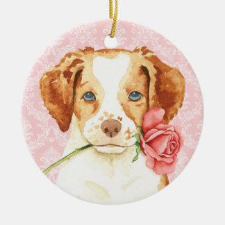 Valentine-Rose Bretagne Rundes Keramik Ornament