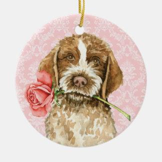 Valentine-Rose Griffon Keramik Ornament