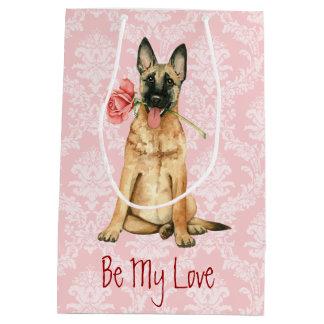 Valentine-Rose Malinois Mittlere Geschenktüte