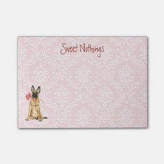 Valentine-Rose Malinois Post-it Klebezettel