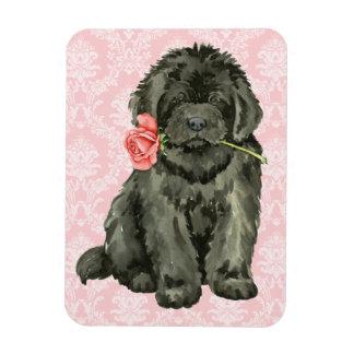 Valentine-Rose Neufundland Magnet