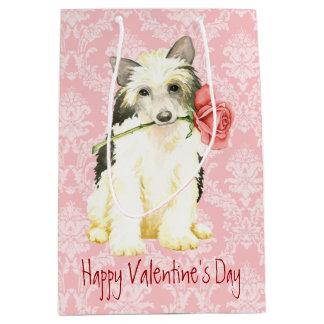 Valentine-Rose Powderpuff Mittlere Geschenktüte