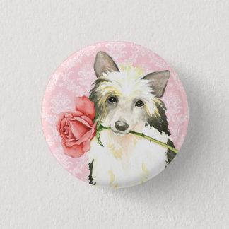 Valentine-Rose Powderpuff Runder Button 2,5 Cm
