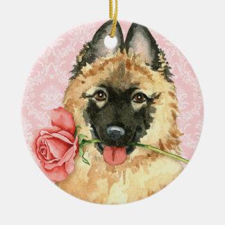 Valentine-Rose Tervuren Keramik Ornament