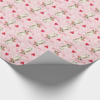 Valentine-Rose Whippet Geschenkpapier