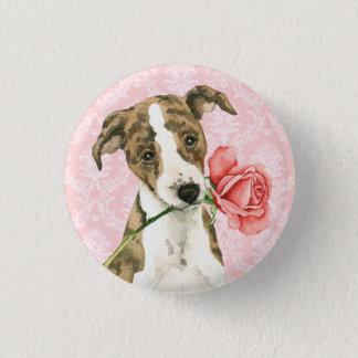 Valentine-Rose Whippet Runder Button 3,2 Cm