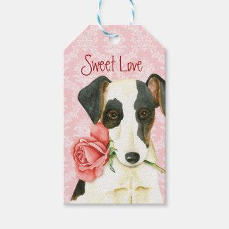 Valentine-Roseglatter Fox-Terrier Geschenkanhänger