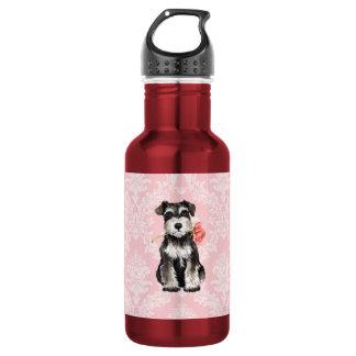 Valentine-RoseminiSchnauzer Trinkflasche