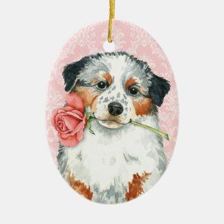 Valentine-Rosen-Australier Keramik Ornament