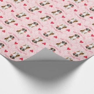 Valentine-Rosen-Boxer Geschenkpapier
