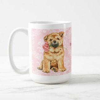 Valentine-Rosen-Chow-Chow Kaffeetasse
