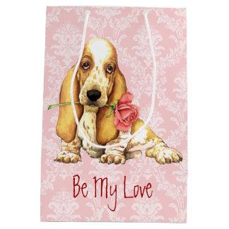 Valentine-Rosen-Dachshund Mittlere Geschenktüte