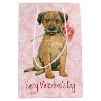 Valentine-Rosen-Grenzterrier Mittlere Geschenktüte