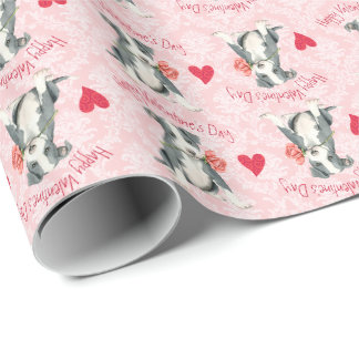 Valentine-Rosen-Grube Stier Geschenkpapier