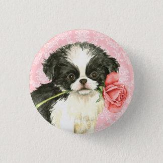 Valentine-Rosen-Japaner Chin Runder Button 3,2 Cm