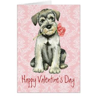 Valentine-RosestandardSchnauzer Karte