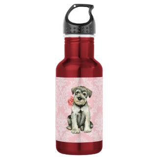 Valentine-RosestandardSchnauzer Trinkflasche