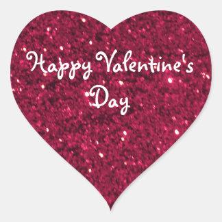 Valentine-Rot-Glitter Herz-Aufkleber