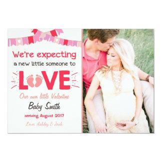 Valentine-Schwangerschafts-Mitteilung decken 12,7 X 17,8 Cm Einladungskarte
