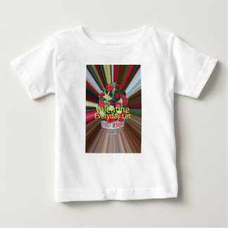 Valentine-täglicher Anteil die Liebe Baby T-shirt