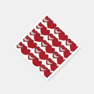 VALENTINE-WAHRE LIEBE-HERZ-Servietten Papierservietten