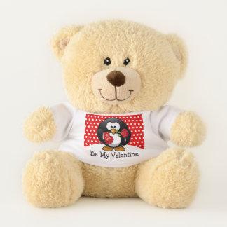ValentinePenguin mit Schokolade und Rosen-Geschenk Teddybär