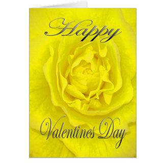 Valentines-Blume im Gelb Karte