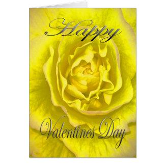 Valentines-Blume im Gelb und im Rosa Karte