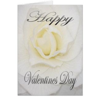 Valentines-Blume im Weiß Karte