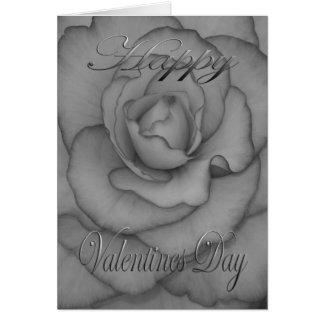 Valentines-Blume Schwarzweiss Karte