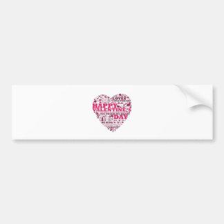 Valentine's day heart autoaufkleber