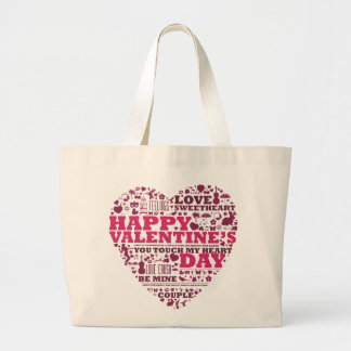 Valentine's day heart jumbo stoffbeutel