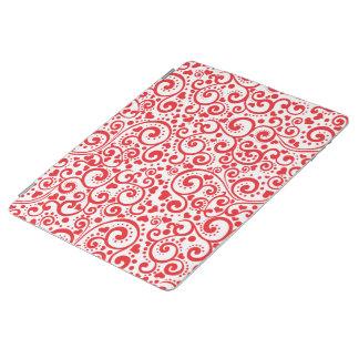 Valentines - rote Herzen und Wirbel nahtlos iPad Hülle