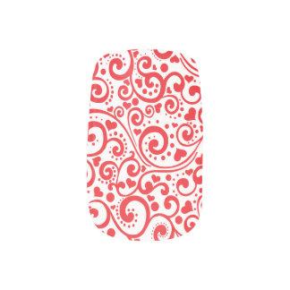 Valentines - rote Herzen und Wirbel nahtlos Minx Nagelkunst