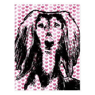Valentines - Saluki Silhouette