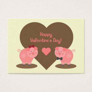 Valentines - Sets von 100 Schwein-Karten Visitenkarte