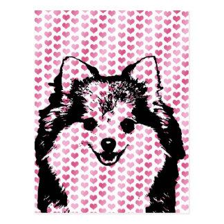 Valentines - Spitz-Silhouette Postkarten